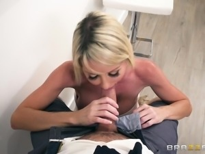 He has huge balls to fuck his wife's hot blonde friend right in front of her....