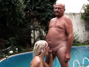 Milf gets her pretty face jizz covered after sex with horny guy