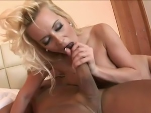 Brutal stud butt fucks yummy blond filth in sideways and reverse poses hard