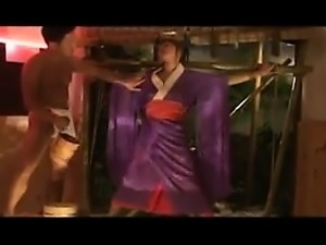 Submissive Oriental slut with perfect boobs enjoys infinite