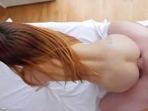 Petite bodied Sally Squirt screwed deep in her snatch
