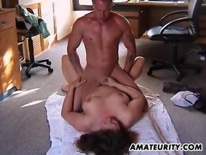 Horny housewife wants to feel her fellow's massive boner