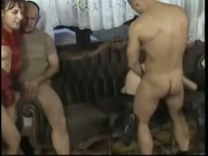 Old white bitches and a bunch of horny white men having orgy
