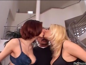 Lovely hot ass porn sweethearts in a nasty lesbian bang scene