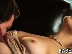 Lovely babe groans from sexy big o