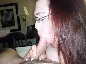 Housewife Lindsey sucks the cum out of my dick