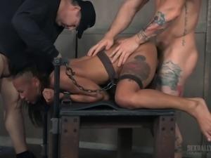 Two masters ravish a hot black girl's amazing body