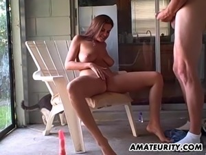 Lucky guy wants to play with a hot bruntte's dripping love hole
