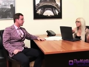 Hot Office Blonde With Glasses