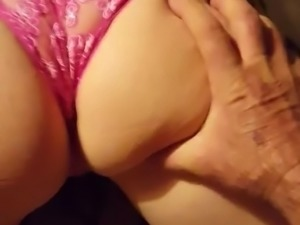 Momma's foot work & ass smack