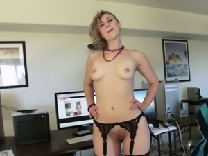 Curly haired spoiled filth in hot stockings Heather Lexi sucks her buddy off