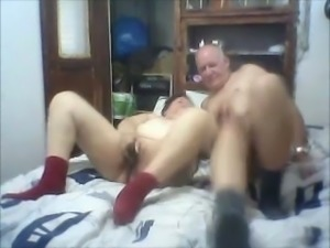 Mature bald man playing with my vagina in exciting amateur video