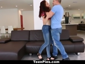 TeenPies - Petite Cutie Creampied By Sisters BF