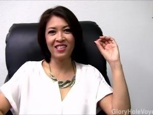 Asian Milf Gloryhole Interview Blowjob
