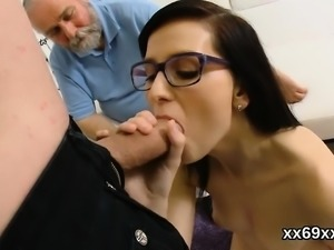 Dude assists with hymen examination and riding of virgin kit