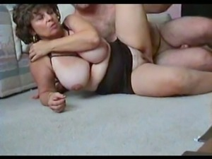 Boobalicious MILF nailed brutally in her insatiable fuck hole in sideways pose