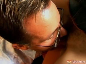 18 yo secretary becomes her boss's private hooker