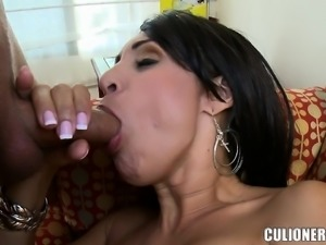 Lustful and lonely housewife enjoys wild sex action with a younger guy