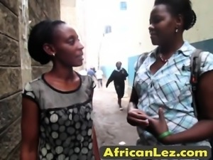 Two horny Africans under the shower