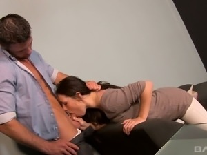 Passionate girl with sexy slim body shape gets nailed doggystyle