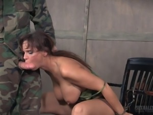 Mature chick face fucked by her kinky randy master