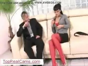 Office anal sex on TopRealCams.com