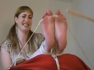 Sexy Bastinado - cane her soles