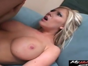 Dildo and a butt plug get her ready for anal pounding
