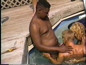 cuckold wives interracial pool fuck