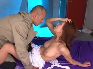 Dirty whore gets creampied from a stud