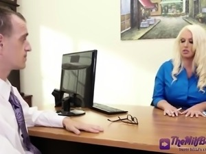 This Horny Office Blonde