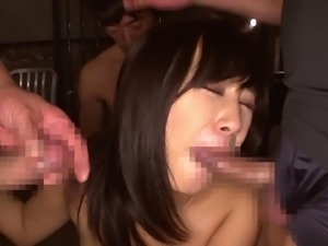 Japanese brunette cry foul the hardcore fucking she is subjected to