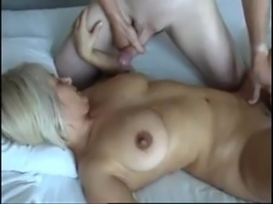 sexy british blonde milf takes four cocks
