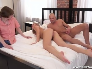 Sell Your GF - Bf watching gf fuck for cash