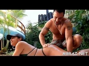Cum on ass of hot brazilian floozy
