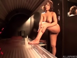 Japanese beauty is in need of her lover's massive tool