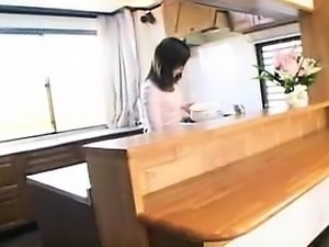 Lustful Asian wife has fun with sex toys before enjoying a