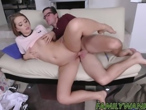 Fucking my friends hot sister and gave her a creampie