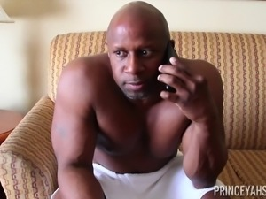 Handsome black fellow's cock is all Rio Blaze wants to play with