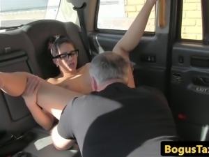 Spanish taxi slut fucked through sluthatch