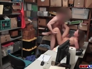 Tiny thief Brooke Bliss gets a hot hardcore sex