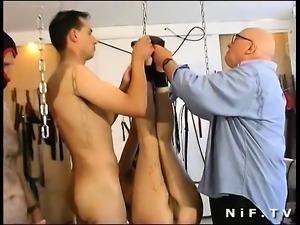 German redhead bdsm gangbang