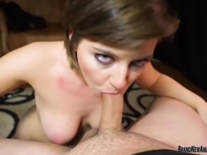 Big boob amateur hottie goes slutty at porn tryout