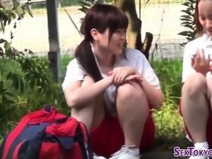 Asian lesbians groping