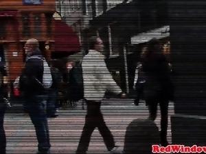 Busty Dutch prostitute jizzed by sex tourist
