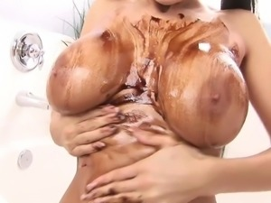 WANKZ- Super Hot Alison Star Covered in Chocolate