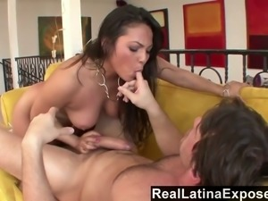 Hot all natural Asian babe Adriana Luna really knows how to fuck