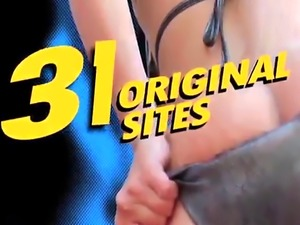 Big assed slut Katie Morgan in a massive fuckfest
