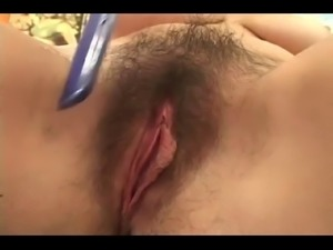 Cum on Her Nice Hairy Pussy BVR