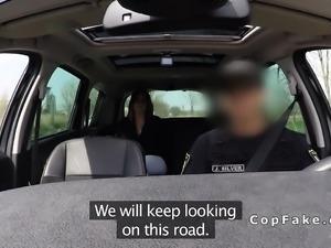 Euro fake cop bangs arrested babe
